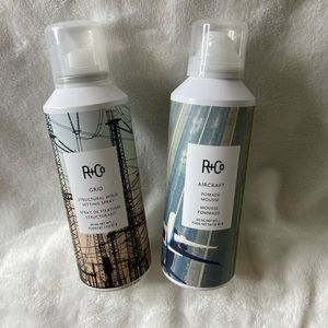 R+Co Grid Spray and Aircraft Mousse